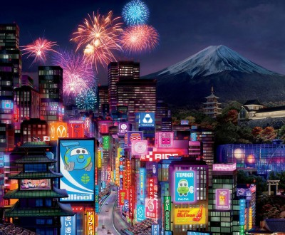 Tokyo City In Cars 2 Wide
