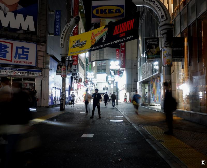 Tokyo dans le noir sous état d'urgence, Shibuya