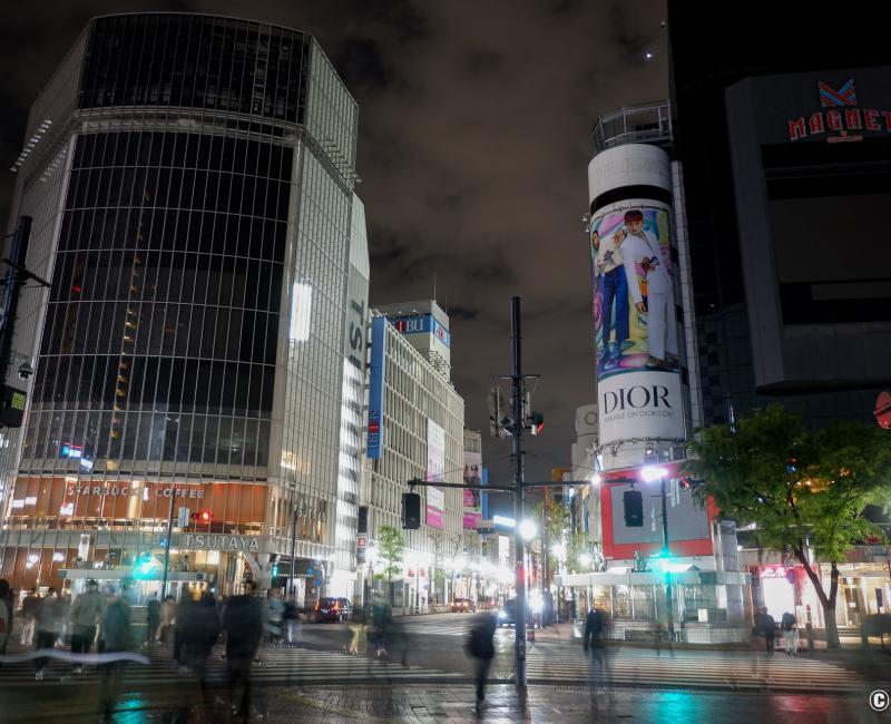 Tokyo dans le noir sous état d'urgence, carrefour de Shibuya 2