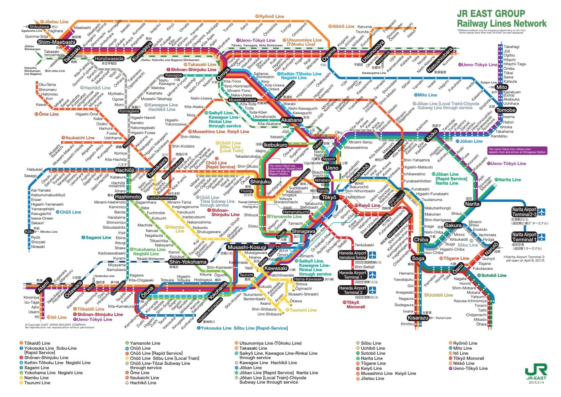Guide Du Train Et Mtro Tokyo