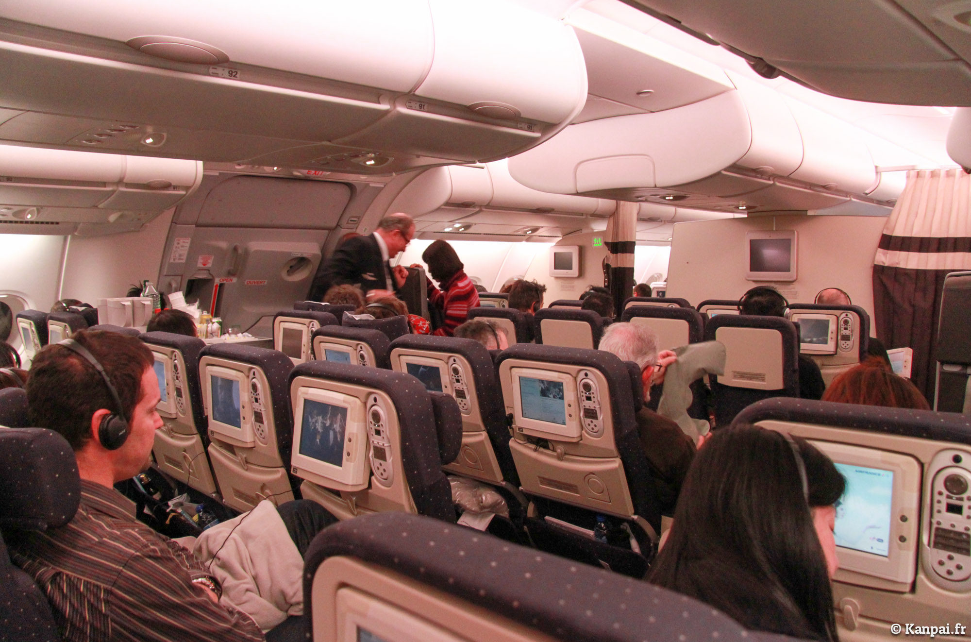 A380 compte rendu d 39 un paris tokyo for Interieur airbus a380