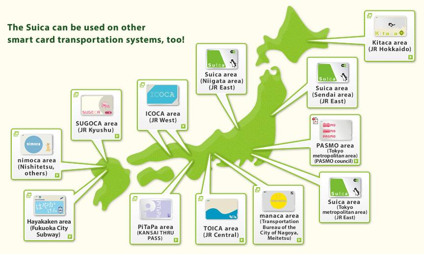 Carte Suica : l'indispensable au Japon