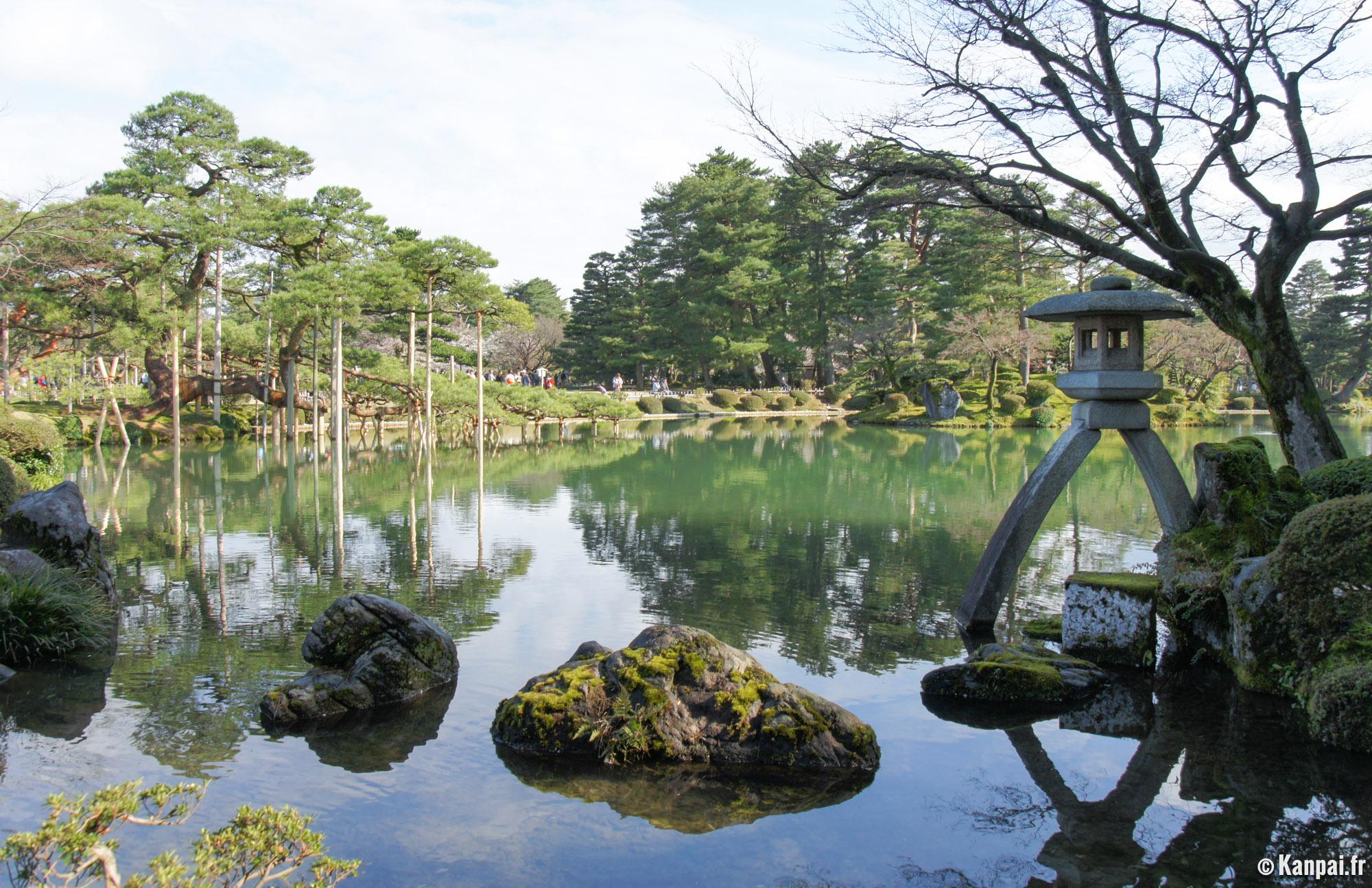 Kenroku en le sublime jardin de kanazawa for Jardin kenrokuen